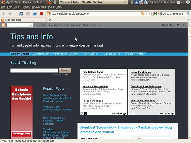 contoh screenshot - snapshot