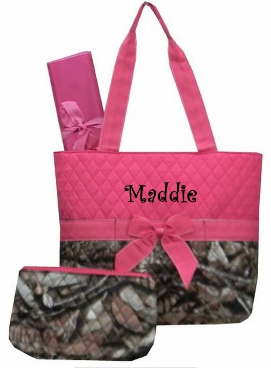 Hey, I found this really awesome Etsy listing at http://www.etsy.com/listing/150265624/personalized-3-piece-camo-diaper-bag-hot
