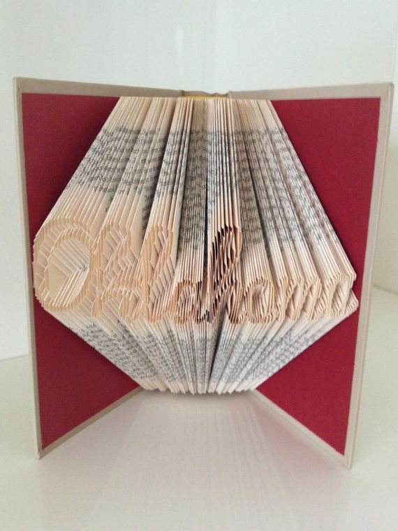 It Is Crafty But I Could Not Endeavor This Oklahoma Folded Book By ReadingWithScissors On Etsy