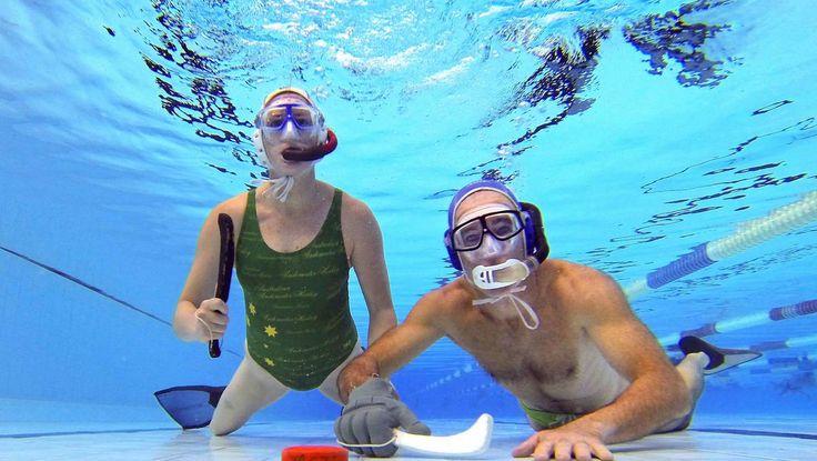 VIDEO: Underwater hockey players head to world championships