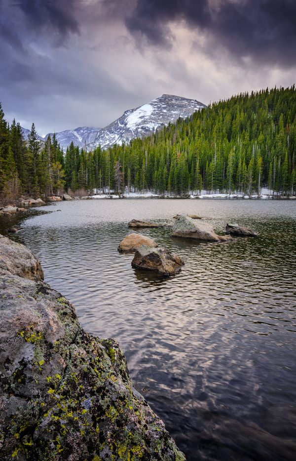 Bear Lake, an easy, family friendly hike in Rocky Mountain National Park, Estes Park, Colorado.