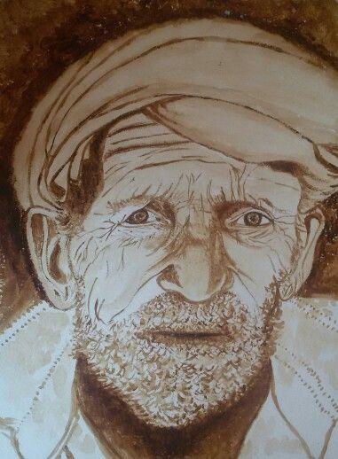 Watercolor(nescafe) by Yasemin Türkoğlu