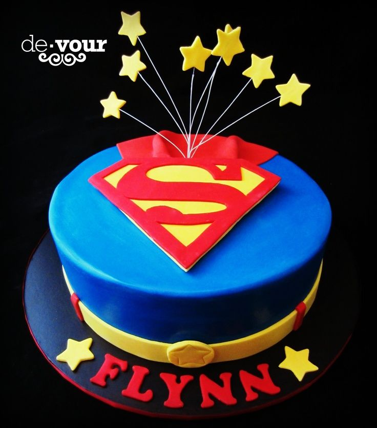 Superman Cake Ideas Pinterest