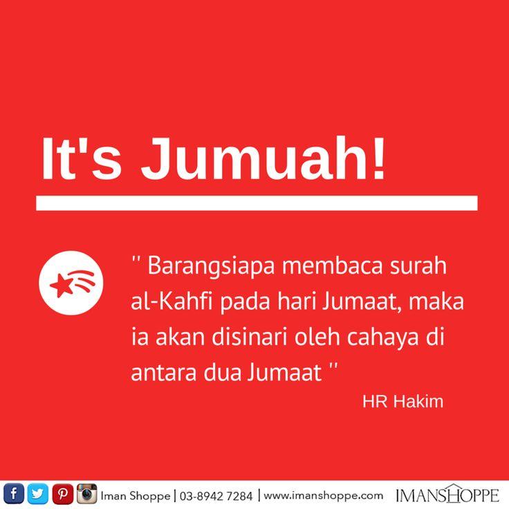 Assalamualaykum warah matullah dan selamat hari Jumaat buat semua !  Sudah habis baca al-Kahfi ?