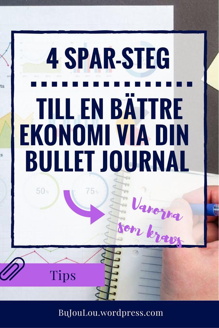 Tipsen som kan hjälpa dig och din bulletjournal att spara mer. #bujo #bujosverige #bulletjournal #ekonomi #sparamer