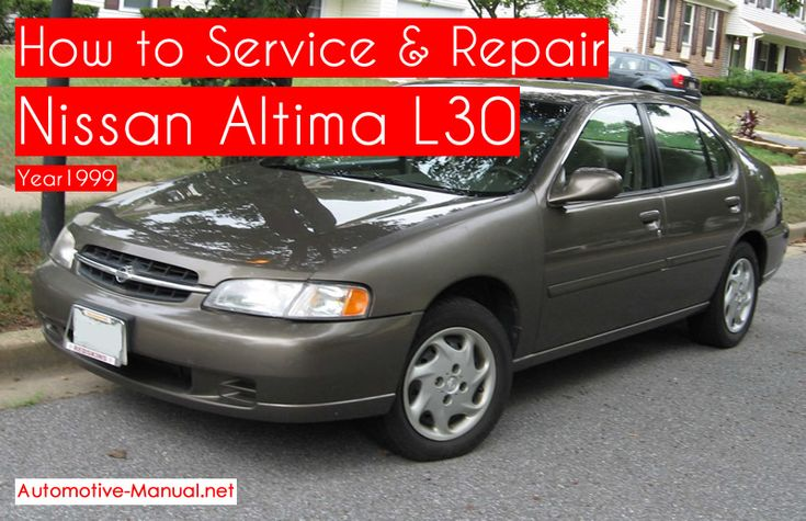 How to Service Repair Nissan Altima L30 1999 PDF Manual  – Nissan Service Manual