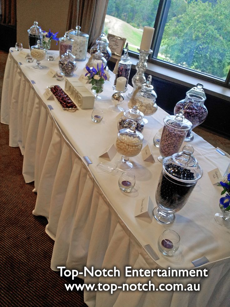 Everyone loves a great lolly buffet.  www.top-notch.com.au  www.facebook.com/WeddingDJTopNotch