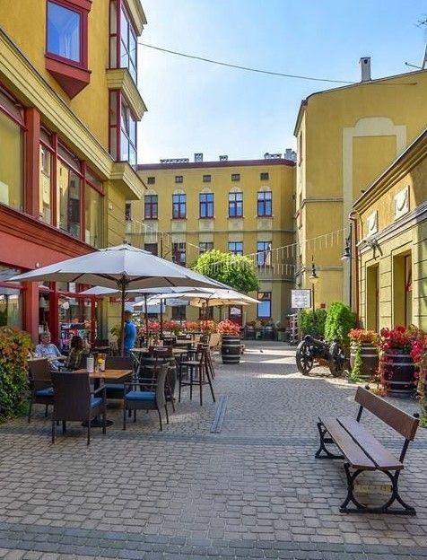 Courtyard in Lodz Poland