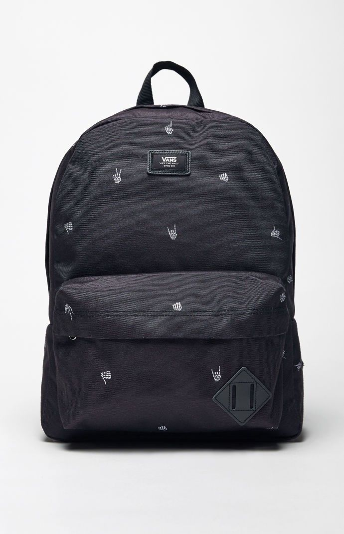 VANS Vans Old Skool II Skeleton Print Backpack. #vans #bags ...