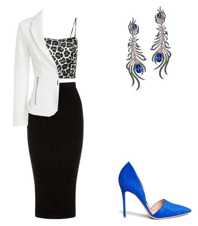 """Untitled #81"" by inespereira3 on Polyvore featuring Warehouse, Gianvito Rossi and NOIR Sachin + Babi"