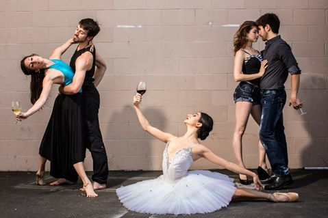 Wine meets Ballet charity event in Santa Barbara. Brain child of Teri Jory