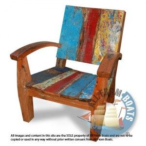 lounge chair, reclaimed boat timber. Nautical, recycled, reclaimed, boatwood, boat furniture.