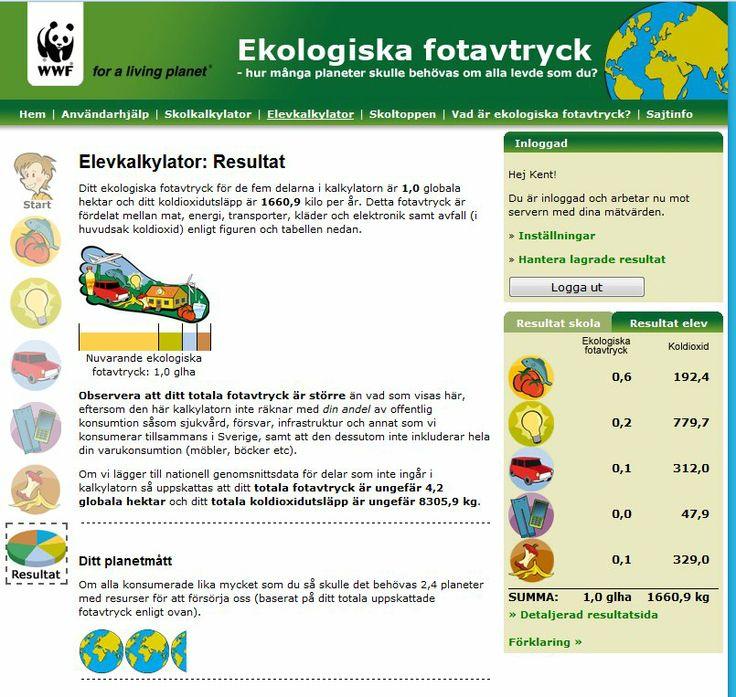 2,4 jordklot skulle behövas om alla konsumerade som jag http://skola.klimatsmartcommunity.net/?page=2&cat=8 Framsida: http://skola.klimatsmartcommunity.net/