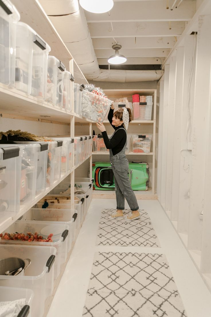 Elsie's Storage Room Makeover, #basementlaundryroom #Elsies #Makeover #Room #Storage