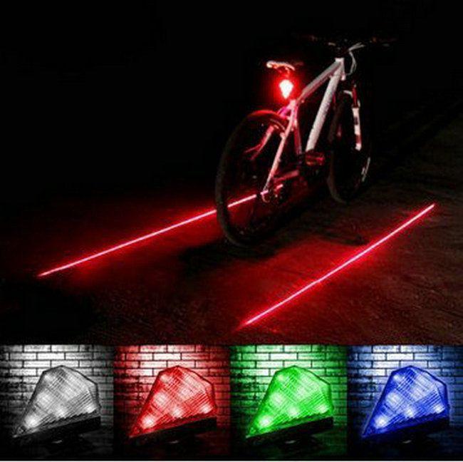 2 Laser Flashing Lamp Cycling Bicycle Bike Rear Tail Safety Warning Light 8 LED