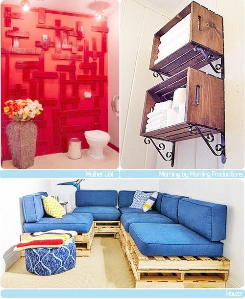 móveis com pallets e caixotes