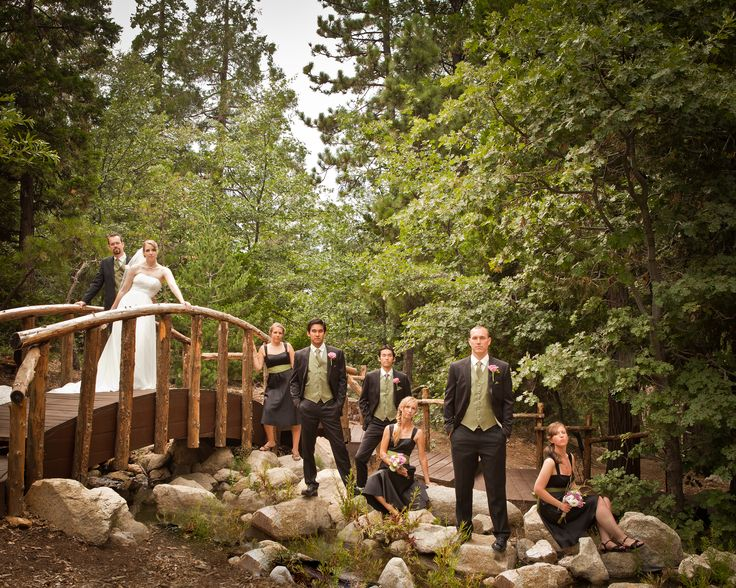 Wedding Party Pine Rose Weddings Lake Arrowhead, California enchanted forest wedding venue