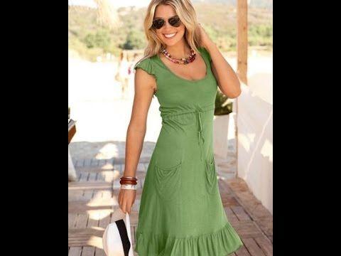 Трикотажное платье с кулиской. - YouTube