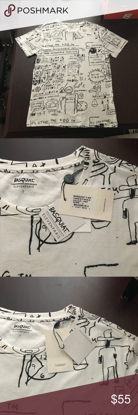 Basquiat Eleven Paris Shirt Brand new Never worn, Fits like a Medium. Purchased at Nordstrom. Eleven Paris Shirts Tees - Short Sleeve