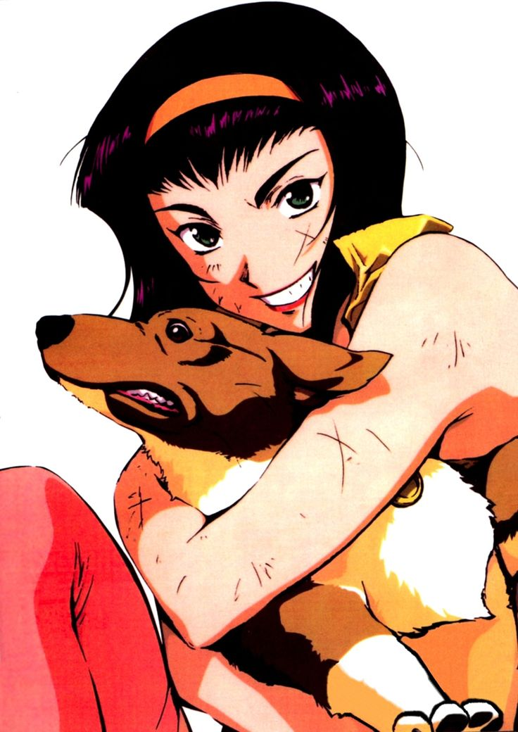 Faye Valentine and Ein - Cowboy Bebop [anime girls]
