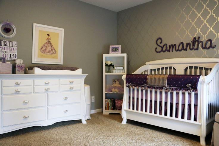 Purple And Grey Crib Bedding Set By Pine Creek Bedding On