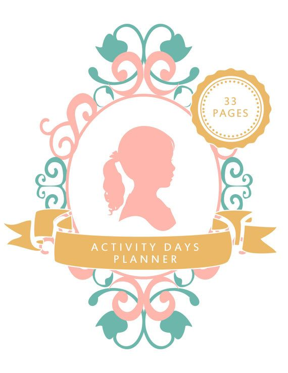 LDS Activity Day Leader Planner for Activity Day Girls.