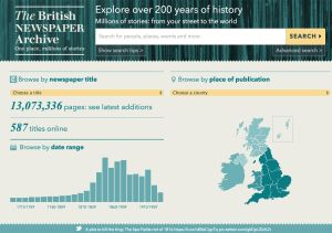 Access Thousands of Historic Newspapers Online: The British Newspaper Archive