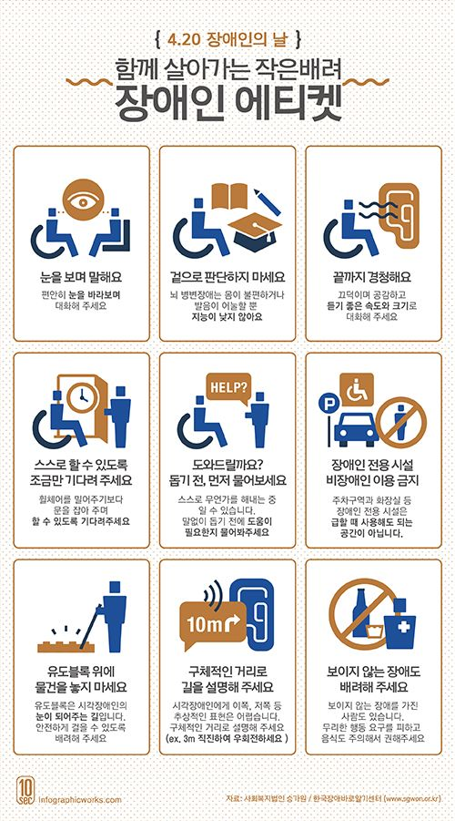 infographic - 장애인 에티켓 Created by Infographicworks / Designer Han Juhee