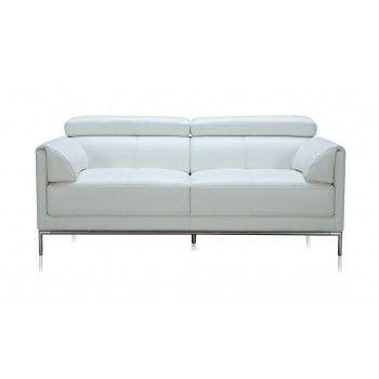 Derel 3 Seater Eco Leather Modern Sofa White $1,090.00