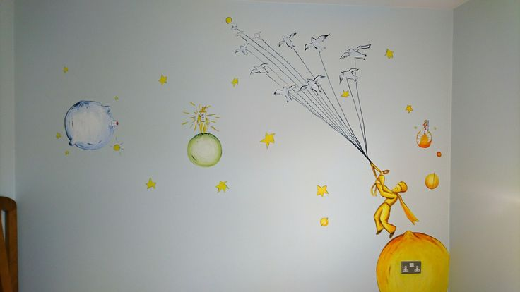 Le Petit Prince / The Little Prince mural for a new born