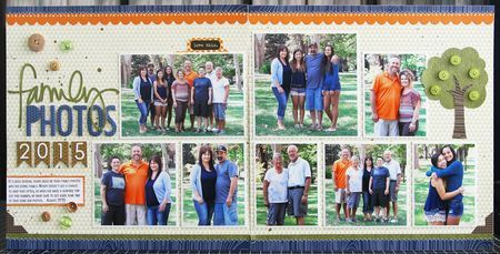 Bella Blvd Hello Autumn collection. Family Photos 2015 layout by creative team member Laura Vegas.
