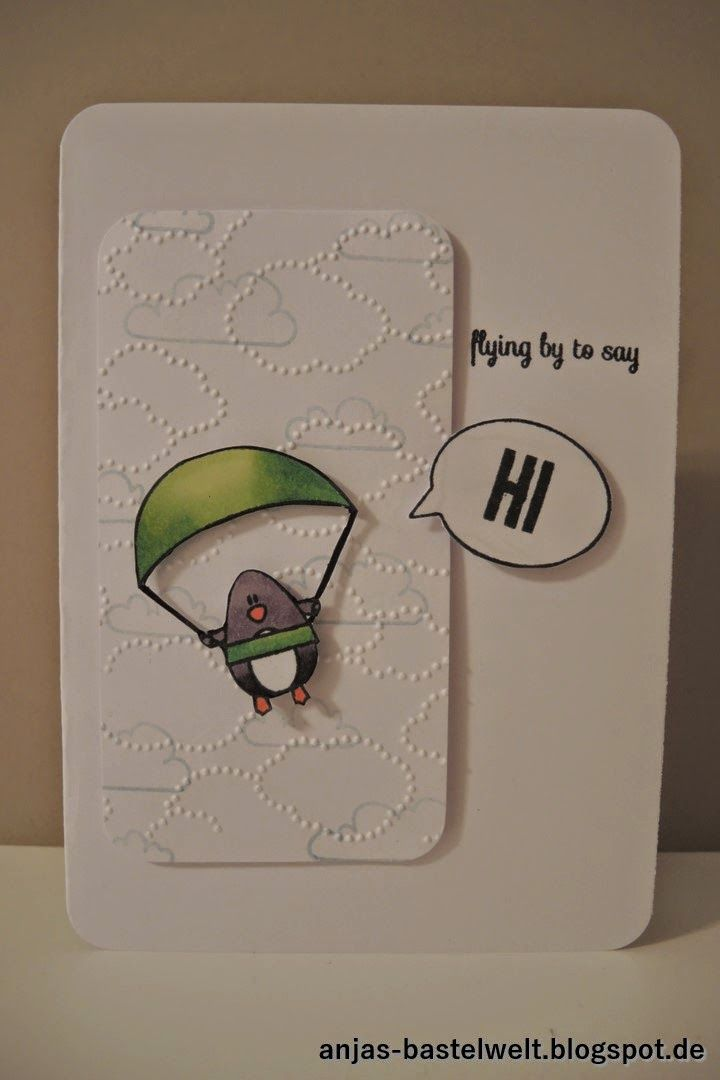 anjas-bastelwelt, create a smile: penguin party, stampin up: wolkenmeer