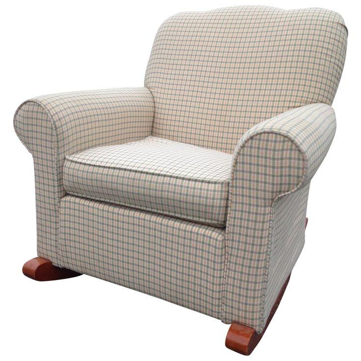 Klaussner Custom Upholstered Rocking Chair on Chairish.com