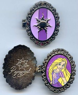 Disney Pin - Princess Symbol Lock Princess Rapunzel (#94278)