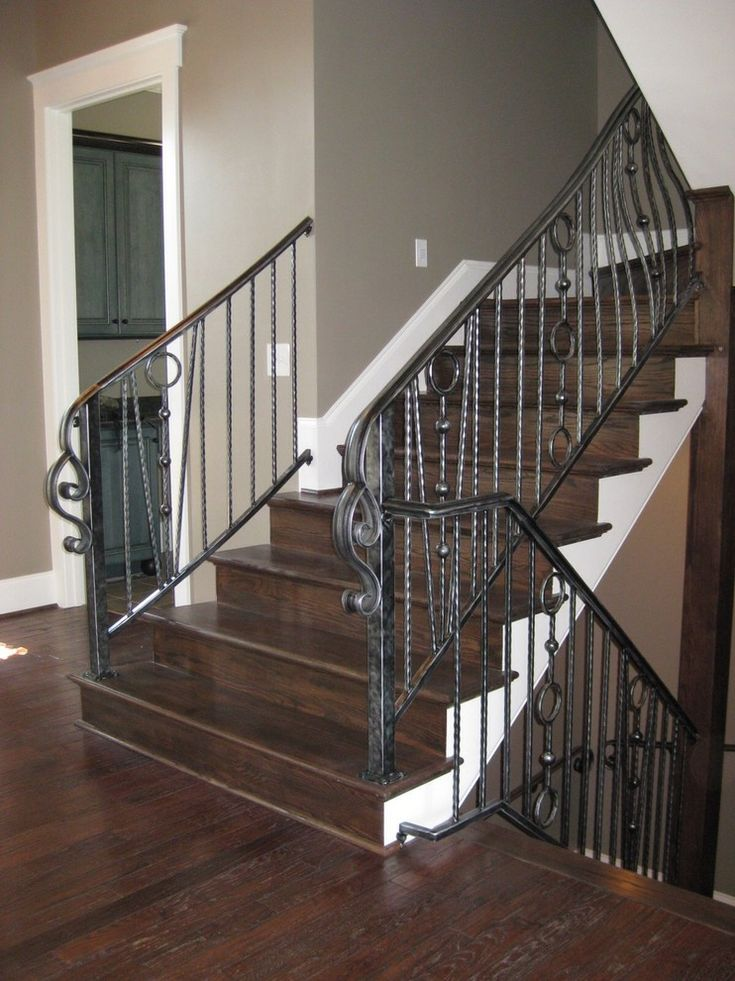 25 best ideas about iron stair railing on pinterest. Black Bedroom Furniture Sets. Home Design Ideas