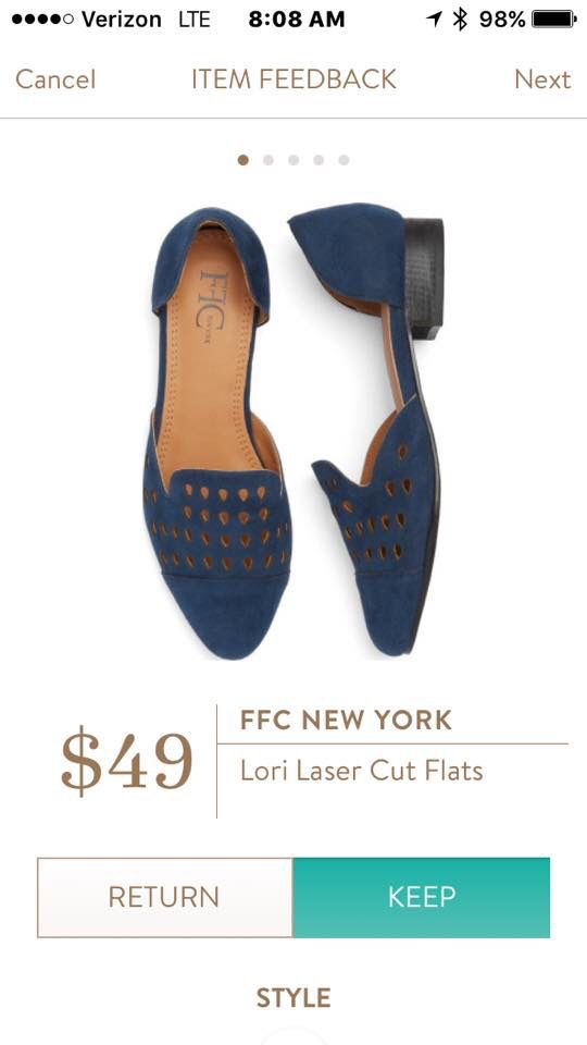Dear Stitch Fix Stylist - these FFC Bew York Lori Laser Cut Flats are WOWZA- Maybe not in Blue. Grey or another color?