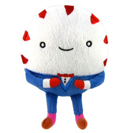 Adventure Time : Peppermint Butler Chew Toy - Your dog can munch on Princess Bubblegum's mysterious butler when you order this Adventure Time Peppermint Butler Plush Dog Chew Toy inspired by the character in Adventure Time. He squeaks and crinkles, too!