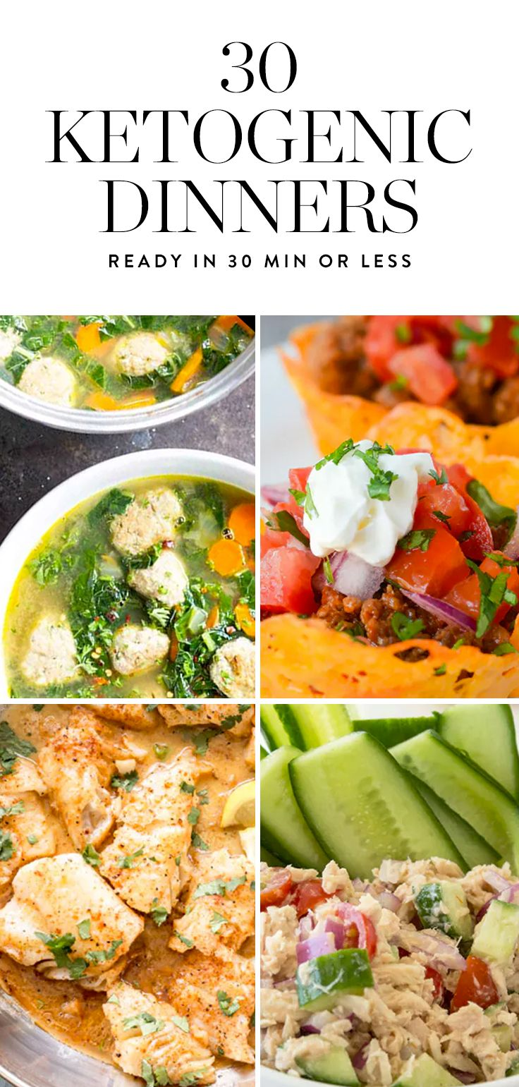 30 Ketogenic Dinners You Can Make in 30 Minutes or Less via @PureWow via @PureWow