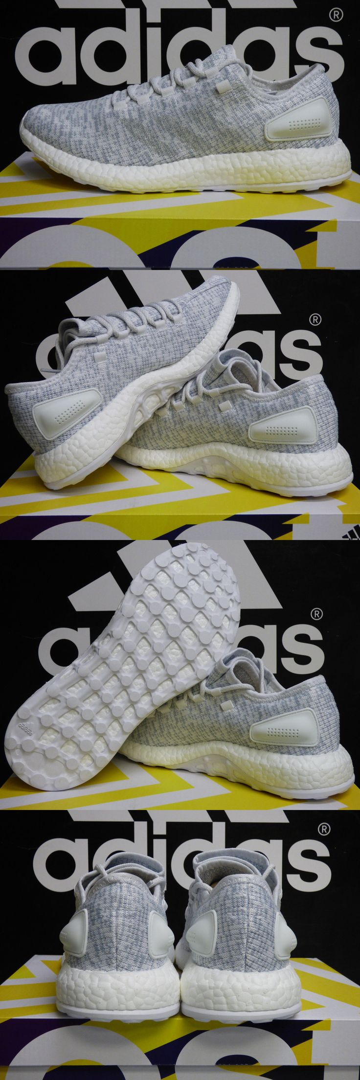 Men 158952: New Authentic Adidas Pure Boost Men S Running Shoes - White Grey: Ba8893 -> BUY IT NOW ONLY: $104.77 on eBay!