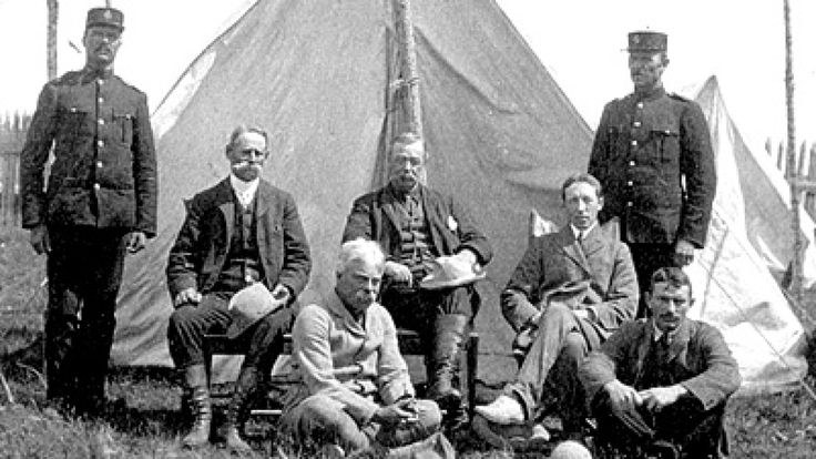 In 1905, George MacMartin, Treaty Commissioner for Ontario, accompanied by federal commissioners and native guides, journeyed through rapids and hiked through the wilds to meet with First Nations leaders. The result was James Bay Treaty Nine. The treaty put northern Ontario into Canadian hands, but First Nations' tradition is clear: their leaders agreed to share the land, not give...