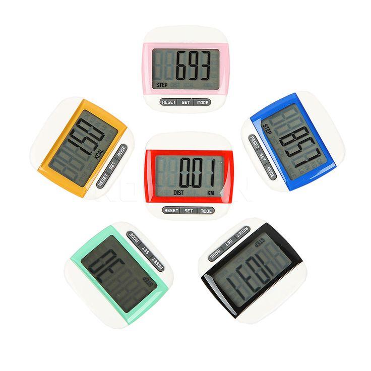 미니 방수 단계 운동 칼로리 카운터 다기능 디지털 LCD 보수계 스포츠 운동 거리