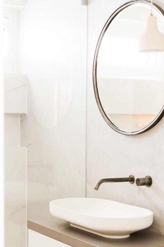 The Omvivo Venice Basin in Charlotte and Josh's Main Bathroom on The Block Triple Threat @theblockshop #theblock