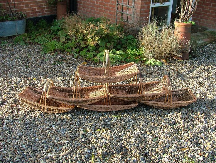 Pictures of some of the many willow baskets - Adrian Charlton