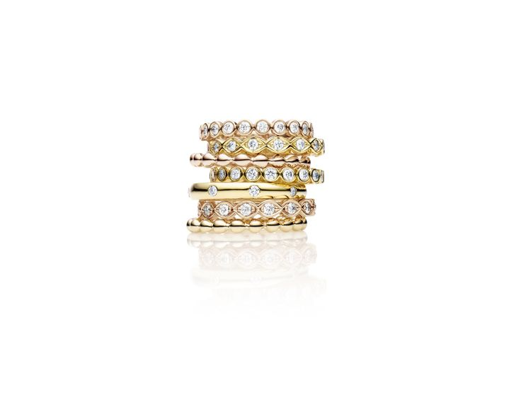 Jan Logan Diamond Ring Stack from the Valencia Collection