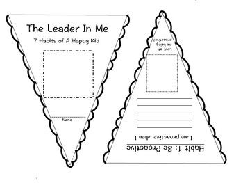 This banner is based on the 7 Habits of a Happy Kid. There is a short writing piece 2-3 sentences) for the students to complete about each habit. There is an opportunity for the students to illustrate their writing. This can be used as a week review activity and the students can create their