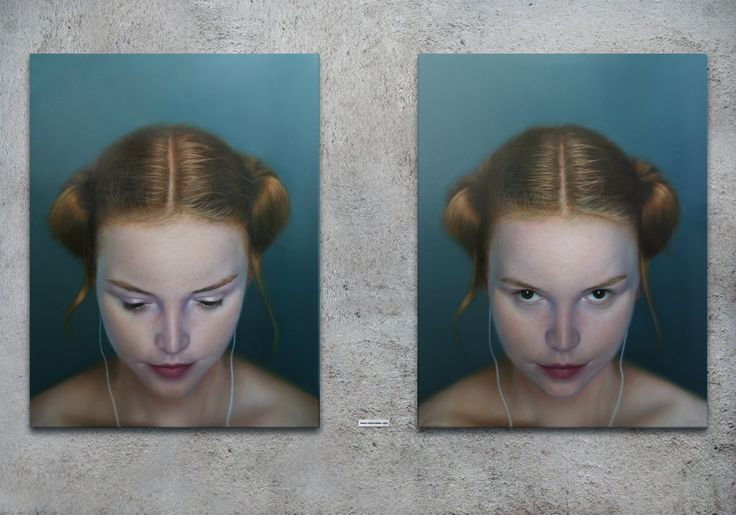 iDeath duet Oil on canvas 220 x 170cm