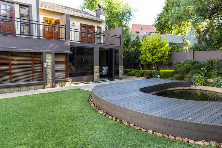 Round deck and fish pond by Eva-Last. http://www.eva-tech.com/en/