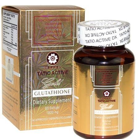 NEW TatioActive from Tatiomax Gold Glutathione Whitening Gel Capsules With 1800mg of Glutathione, Algatrium, A.StemCell, Collagen, Alpha Lipoic Acid & Vitamin C