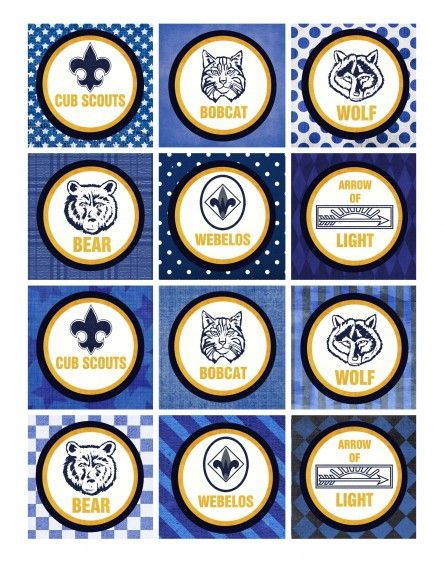 Cub Scouts Blue and Gold Banquet printables