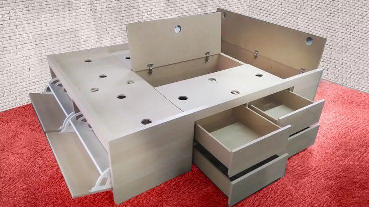 Las 25 mejores ideas sobre cama 2 plazas en pinterest for Cajones bajo cama ikea